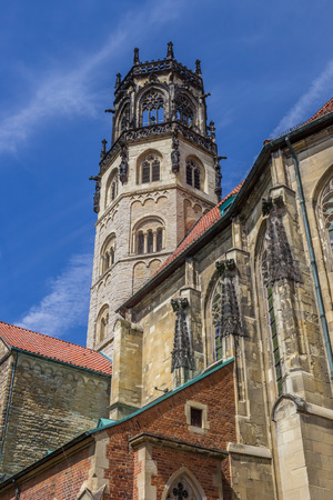 St. Ludgeri church in the historical center of Munster, Germany