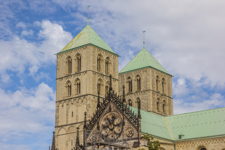 munster: Towers of the St. Paulus Dom in Munster, Germany