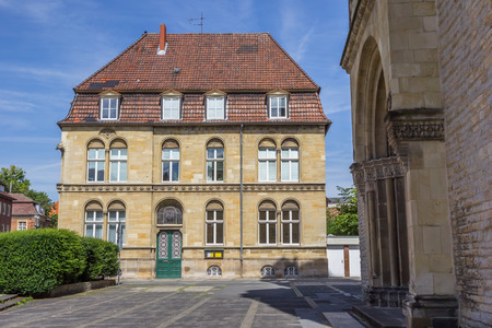 st german: Old building at the Marienplatz square in Munster, Germany