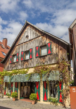 westfalen: Old wooden shop in the center of Telgte, Germany Editorial