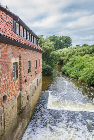 Old water mill in the center of Telgte, Germany