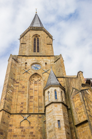 westfalen: Tower of the St. Clemens church in Telgte, Germany