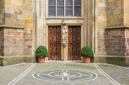 westfalen: Entrance of the St. Clemens church in Telgte, Germany Stock Photo