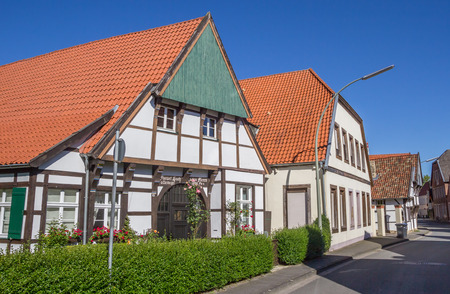 half timbered house: Street with old houses in the center of Steinfurt, Germany