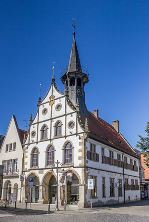 Historical town hall in the center of Steinfurt, Germany Editorial