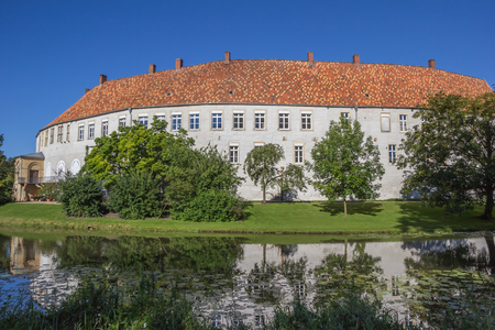 westfalen: Historical German Steinfurt castle with reflection in the water