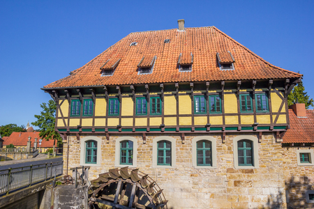 molino de agua: Half timbered Watermill building in Steinfurt, GErmany Editorial