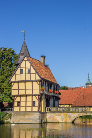 Gatehouse and bridge of the Steinfurt Castle, Germany Editorial