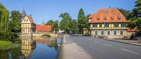 molino de agua: Panorama of the castle and watermill in Steinfurt, Germany