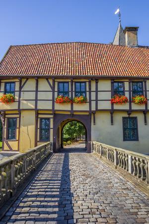 gatehouse: Bridge leading to the gatehouse of the Steinfurt Castle, Germany