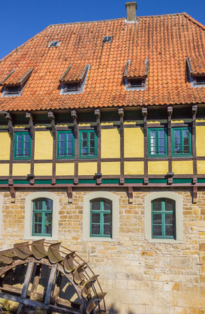 timbered: Half timbered Watermill building in Steinfurt, GErmany Editorial