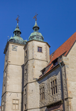 westfalen: Two towers of the historical building of the Steinfurt University in Germany