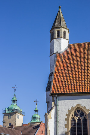 westfalen: Tower of the small church of Steinfurt, Germany