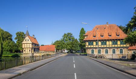 molino de agua: Castillo y molino de agua en el centro hist�rico de Steinfurt, Alemania