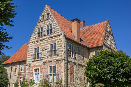 westfalen: Merveldter hof historical mansion in the village of Horstmar, Germany