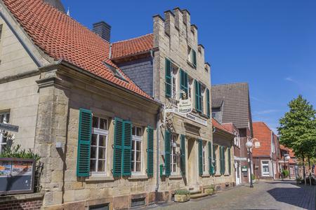 westfalen: Old hotel in the center of Billerbeck, Germany