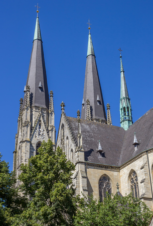 dom: St. Ludgerus dom church in Billerbeck, Germany Stock Photo