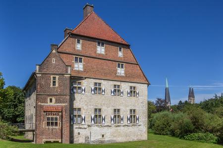 westfalen: Historical Kolvenburg and church towers of Billerbeck, Germany