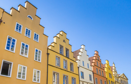 Colorful houses at the central market square in Osnabruck, Germany