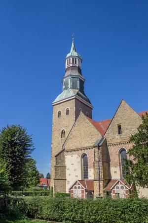sylvester: St. Sylvester church in the historical center of Quakenbruck, Germany Stock Photo
