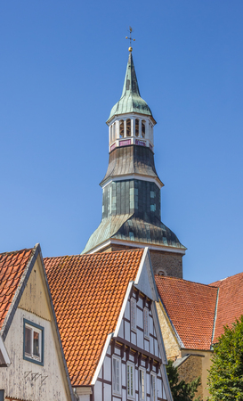 Tower of the St. Sylvester church in Quakenbruck, Germany