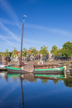 he old: Old sailing ship in he harbor of Blokzijl, Holland