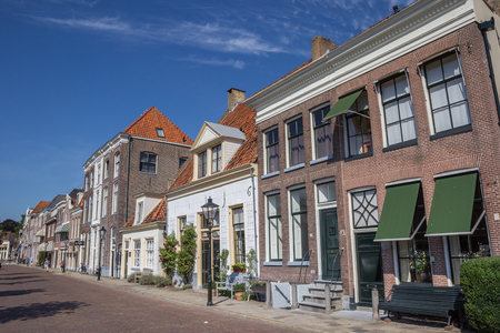 historical buildings: Historical buildings at a canal in Zwolle, The Netherlands