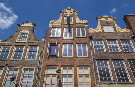 Decorated facades in the historical center of Zwolle, Holland Editorial