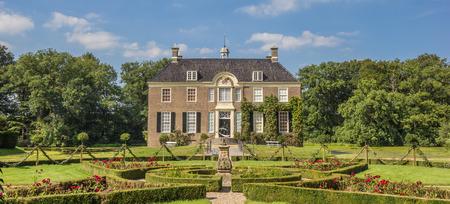 den: Panorama of old dutch mansion Huis Den Berg in Dalfsen, Netherlands
