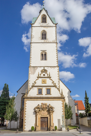 Busdorf Church in the historical center of Paderborn, Germany