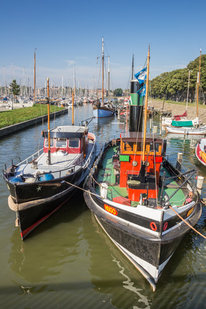 hoorn: Boats in the harbor of Hoorn, The Netherlands