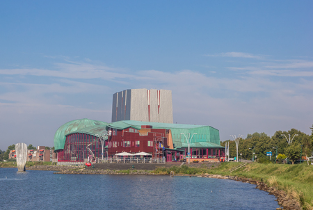 hoorn: City theater at hte IJsselmeer lake in Hoorn, Netherlands Editorial