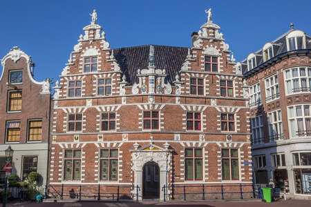 hoorn: Old house in the historical center of Hoorn, The Netherlands Editorial