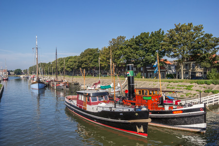 Boats in the harbor of Hoorn, The Netherlands