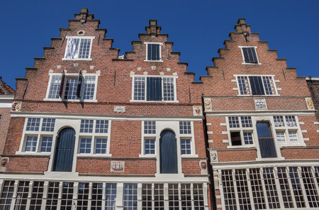hoorn: Facade of an old house in the center of Hoorn, Holland