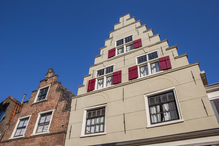 hoorn: Facades of old houses in Hoorn, The Netherlands Editorial