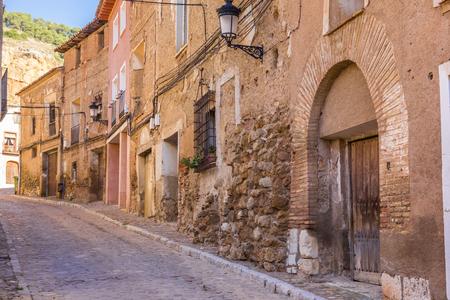 zaragoza: Cobblestoned street in historical city Daroca, Spain