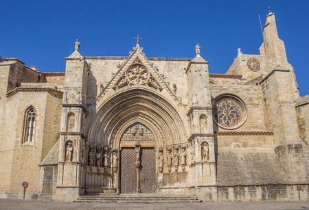 santa maria: Church of Santa Maria la Major of Morella, Spain Stock Photo