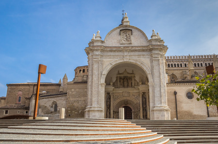 Entrance of the cathedral in Tarazona, Spain