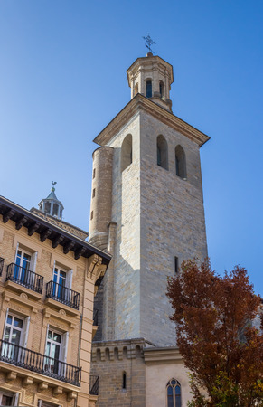 Tower of the San Saturnino church of Pamplona, Spain