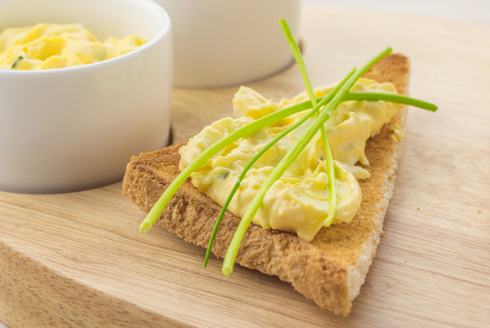toasted: Toasted bread with egg and chive salad
