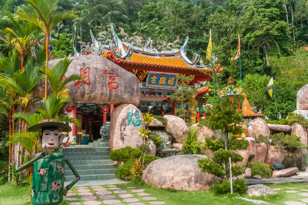 Chinese temple on the island of Pangkor, Malaysia