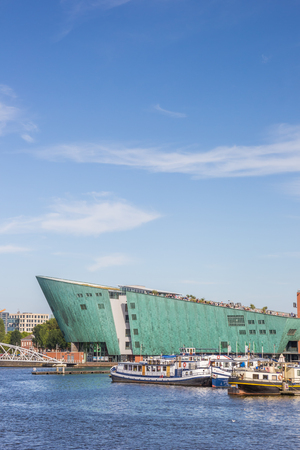 nemo: Modern building of the Nemo Science center in Amsterdam, Holland