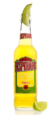 Bottle Of Mexican Desperados Verde Beer With Nachos Isolated Stock Photo Picture And Royalty Free Image Image 73738368