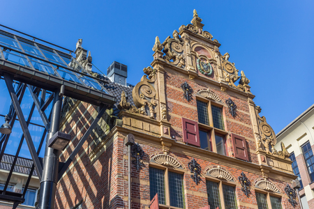 Facade of the historic building Goudkantoor in Groningen, Netherlands Stock Photo
