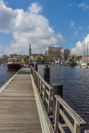 オランダ、フローニンゲンの東港...