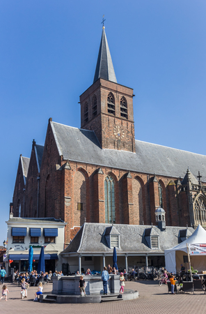 holland: St. Joris church at the central square of Amersfoort, Holland
