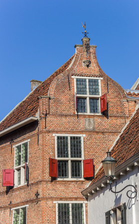 Old house with red shutters in Amersfoort, Netherlands