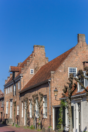 Old houses of Muurhuizen street in Amersfoort, Netherlands