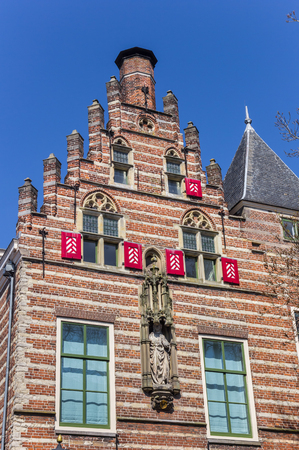 Facade of a historic house in Utrecht, The Netherlands Stock Photo
